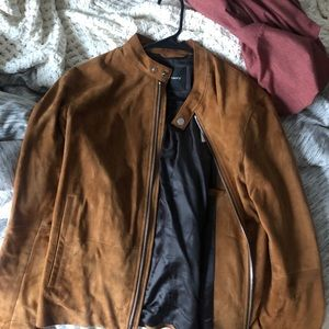 Men's Theory Suede Jacket
